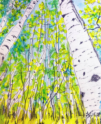 Painting - In The Forest  by Wonju Hulse
