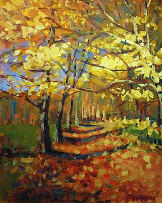 Autumn Painting - Birch2 by Brian Simons