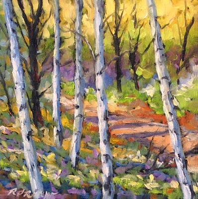 Oil Landscape Painting - Birches 02 by Richard T Pranke