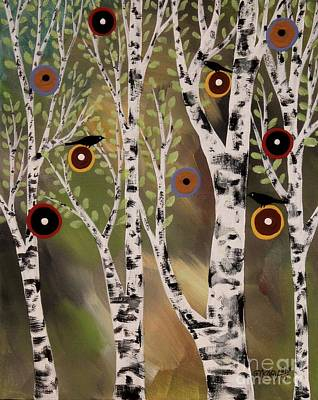 Birches 1 Art Print by Karla Gerard