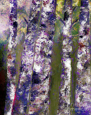 Photograph - Birches At Dusk by Claire Bull