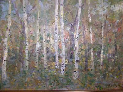 Birches. Art Print