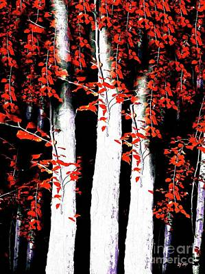 Painting - Birches by Daniel Janda
