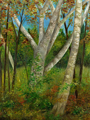 Painting - Birches by FT McKinstry