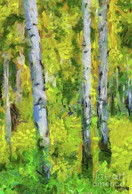 Painting - Birches In Spring by Dragica Micki Fortuna