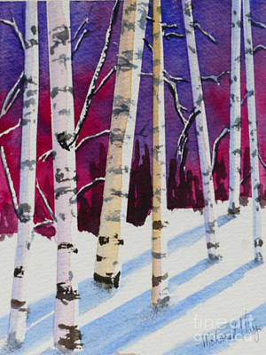Mohamed Painting - Birches In The Sun by Mohamed Hirji