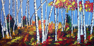 Birches Art Print by Paul Sandilands