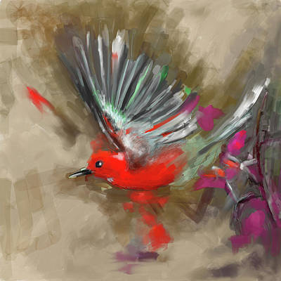 Painting - Bird 1 654 3 by Mawra Tahreem