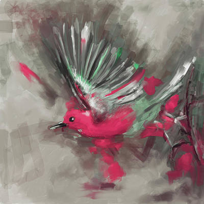 Painting - Bird 1 654 4 by Mawra Tahreem