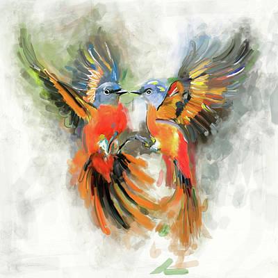 Painting - Bird 2 655 1 by Mawra Tahreem