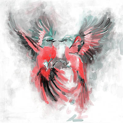 Painting - Bird 2 655 2 by Mawra Tahreem