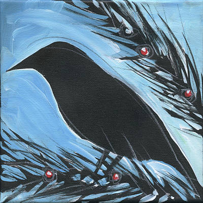 Painting - Bird And Berries #16 by Tim Nyberg