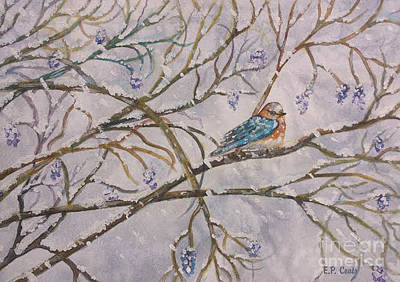 Painting - Bird And Branches by Elizabeth Coats