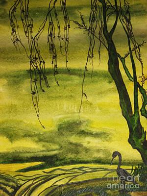 Painting - Bird And Tree by Irina Afonskaya