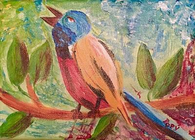Just Desserts - Bird at rest by Dottie Visker