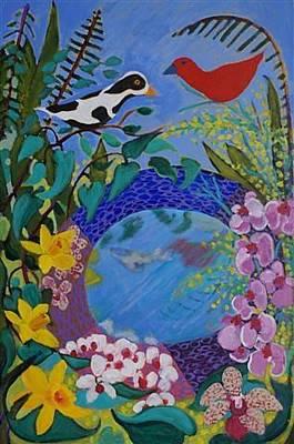 Painting - Bird Bath by Fran Steinmark