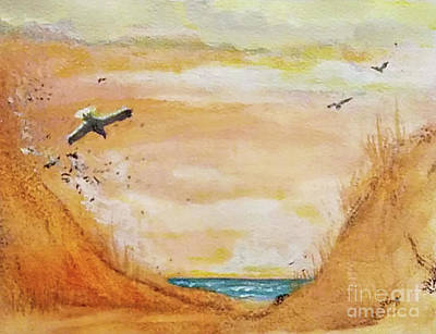 Bird Beach Art Print