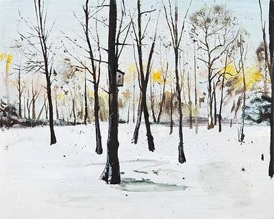 Ground Painting - Bird Box Study by Calum McClure