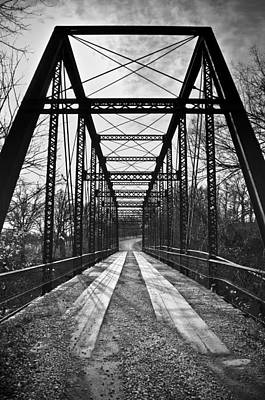 Bird Bridge Black And White Art Print