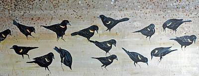 Painting - Bird Brunch by Lizi Beard-Ward
