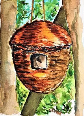 Painting - Bird Bunk by Elaine Duras