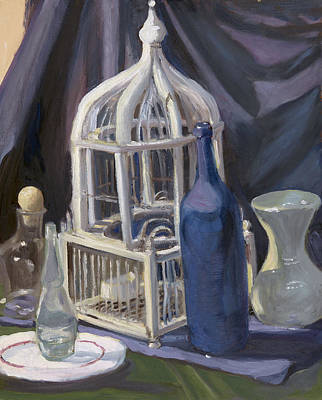 Wall Art - Painting - Bird Cage by Katherine Farrell