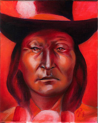 Indian Portrait In Pencil Painting - Bird Chief  by Robert Martinez