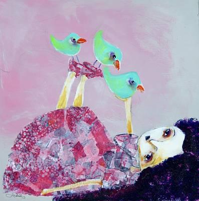 Wall Art - Mixed Media - Bird Circus by Jen Walls