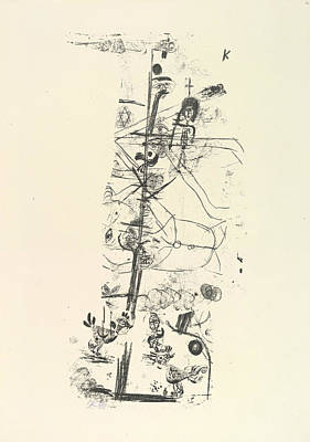 Relief - Bird Comedy by Paul Klee