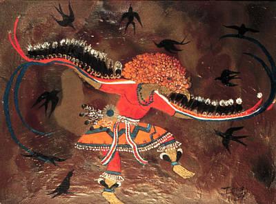 Atlantis Painting - Bird Dancer by Ione Citrin