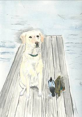 Painting - Bird Dog by Sara Stevenson
