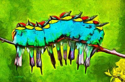 Season Painting - Bird Family - Pa by Leonardo Digenio