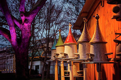 Bird Feeders At Karlsplatz Christmas Market Vienna  Art Print