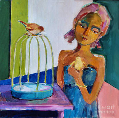 Painting - Bird Girl by Diane Ursin
