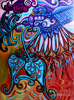 Eco-art Painting - Bird Heart II by Genevieve Esson