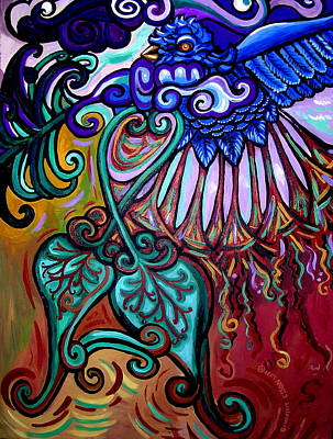 Eco-art Painting - Bird Heart IIi by Genevieve Esson