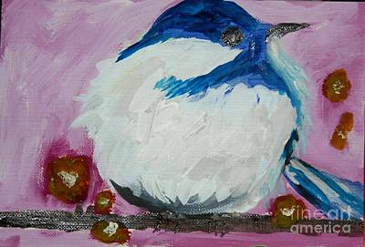 Painting - Bird In Cold by Victoria Hasenauer