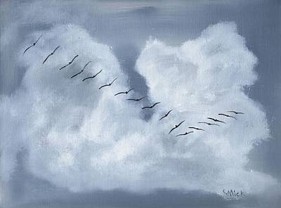 Painting - Birds In Flight by Sharon Mick