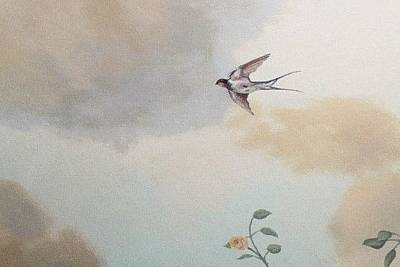 Painting - Bird In Flight by Suzn Art Memorial