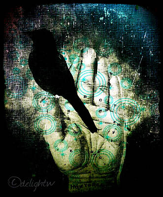 Digital Art - Bird In Hand by Delight Worthyn
