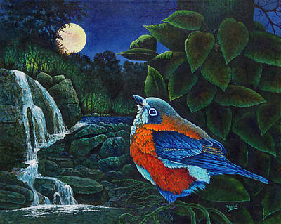 Painting - Bird In Paradise Viii by Michael Frank