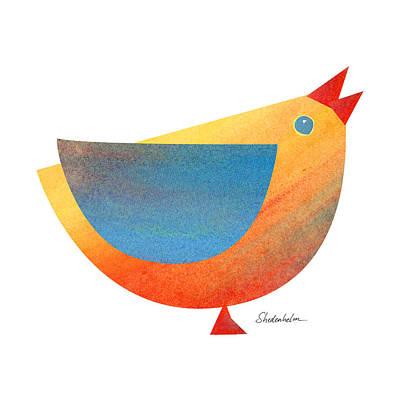 Bird In Shapes Art Print