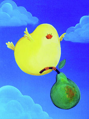 Youthful Painting - Bird In The Air by Lael Borduin