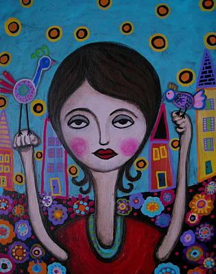 Painting - Bird Lady by Pristine Cartera Turkus
