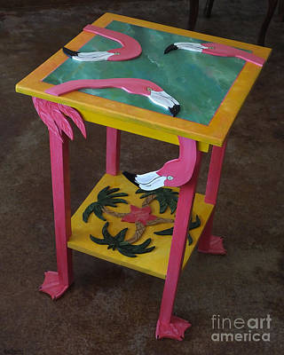 Mixed Media - Barefootin' Table  by Lizi Beard-Ward