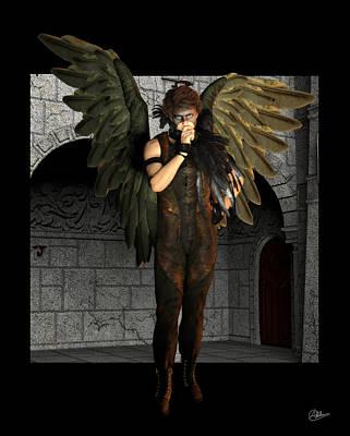 Monastery Mixed Media - Bird Man by Quim Abella