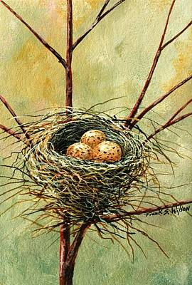 Painting - Bird Nest by Frank Wilson