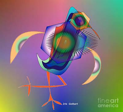 Digital Art - Bird Of Another Colour  2 by Iris Gelbart