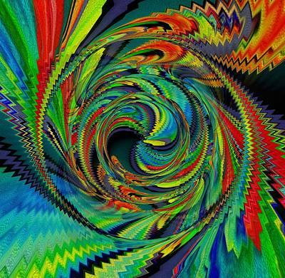 Digital Art - Bird Of Fire by Halina Nechyporuk