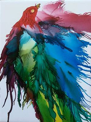Painting - Bird Of  Many Colours by Pat Purdy